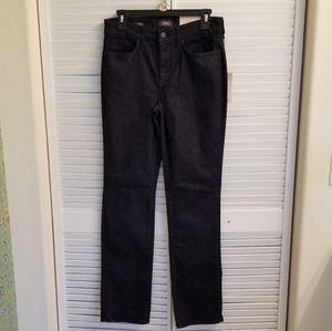 💕NYDJ dark wash straight leg denim jeans -